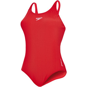 speedo Essential Endurance+ Medalist Badeanzug Damen fed red